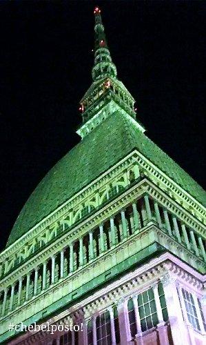 Torino - Mole Antonelliana con illuminazione verde