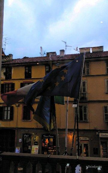 Torino, Mole Antonelliana, bandiere